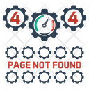 Page Not Found Set 404 Web Icon