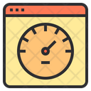 Page Speed Web Spped Speedometer Icon