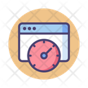 Page Speed Web Speed Speedometer Icon