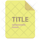 Title List Text Icon
