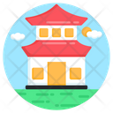 Pagoda Chinese Home House Icon