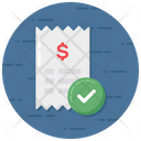 Paid Bill Invoice Icon