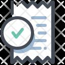 Bill Invoice Approve Icon