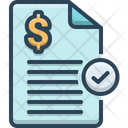 Paid Invoice Stamp Icon