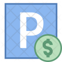 Paid Parking Sign Icon