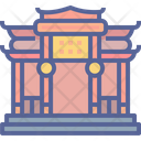 Chinese Temple Monument Icon
