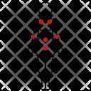 Woman Body Dots Icon