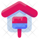 Paint House Home Icon
