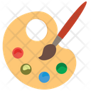 Paint Board And Brush Paint Board Pallete Icon