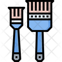 Painted Paint Brush Brush Icon