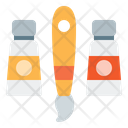 Paint Brush Paint Brush And Tube Color Tube Icon