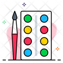 Paint Brush And Palette Icon
