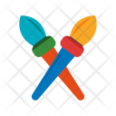 Brushes Two Paint Icon
