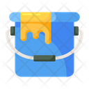 Paint Bucket Painting Basket Designing Tool Icon