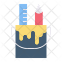 Paint Bucket Ruler Pencil Icon