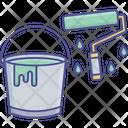 Paint Bucket And Roller Paint Roller Bucket Roller Bucket Icon
