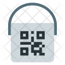 Paint bucket with qr code Icon