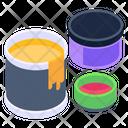 Paint Jars Paint Colors Paint Container Icon
