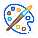 Paint Palette Brush Icon