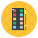 Paint Palette Water Colors Color Palette Icon