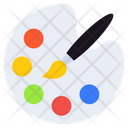 Paint Palette Color Palette Watercolor Icon
