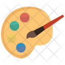 Paint palette and brush Icon