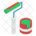 Paint Roller Painting Roller Paint Equipment Icon