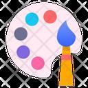 Paint Swatch Color Catalogue Colours Palette Icon