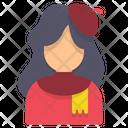 Painter Avatar Woman Icon