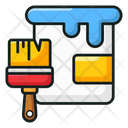 Paint Bucket Painting Basket Paint Equipment Icon