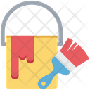 Painting Paint Brush Paint Bucket Icon