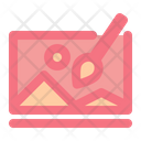 Painting Online Class Art Icon