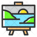 Painting Artboard Canvas Icon