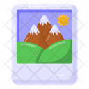 Painting Hill Station Scenery Icon