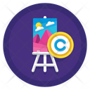 Painting Copyright Icon