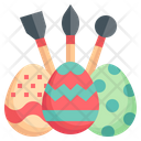 Painting Egg Easter Egg Painting Icon