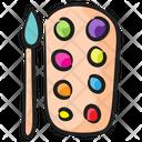 Color Palette Art Colors Drawing Icon