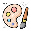 Painting Painting Palette And Brush Palette And Brush Icon