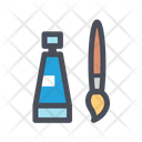 Painting Tube And Brush Icon