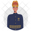 Pakaian Adat Sunda Indonesia Clothe Traditional Cloth Icon
