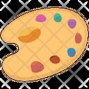 Palette Of A Painter Paint Board Pallete Icon