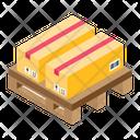 Parcels Pallet Boxes Cartons Icon