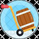 Pallet Cask Cask Cart Cask Trolley Icon