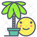 Palm Holiday Palm Plant Icon