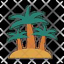 Palm Tree Beach Icon