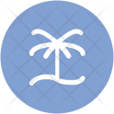 Palm Tree Sunrise Icon