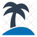 Beach Holiday Palm Tree Icon