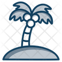 Island Beach Tropical Area Icon
