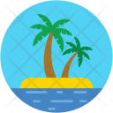 Palm Tree Coconut Icon