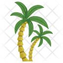 Coconut Beach Arecaceae Icon